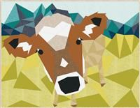 The Cow Abstractions by Violet Craft