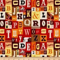 Cowboy Country- Alphabet Red