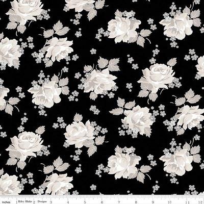 Serenity- Roses- Black