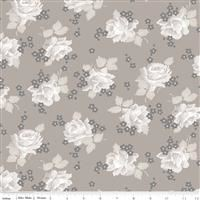Serenity- Roses- Taupe
