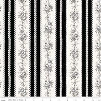 Serenity- Rose Stripe- Black