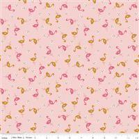 Stardust- Flamingos- Baby Pink/Antique Gold Sparkle