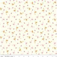 Stardust- Flamingos- Vintage White/Antique Gold Sparkle