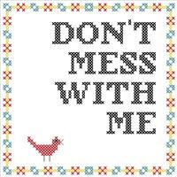 Don't Mess With Me- Basic Cross Stitch Kit