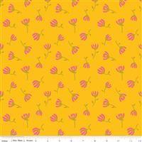 3/4 Yard: Sweet Honey Kisses- Cosmos Yellow/Metallic