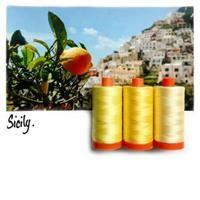 Aurifil Color Builder- Sicily Yellow