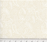 Perfect Paisley- White on Natural